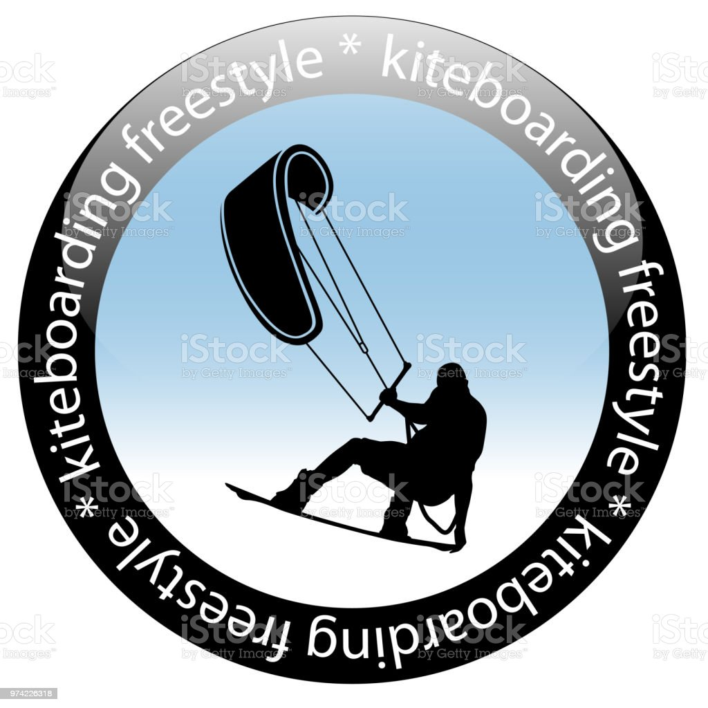 Kiteboarding Freestyle Rider Icon