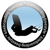 Kiteboarding jump, Freestyle Rider Icon