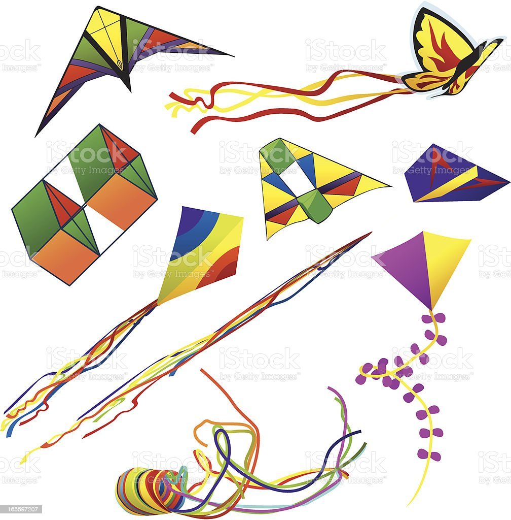 Kites8 royalty-free kites8 stock vector art & more images of butterfly - insect