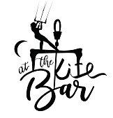 Kitesurfer Girl Lettering Design at the Bar