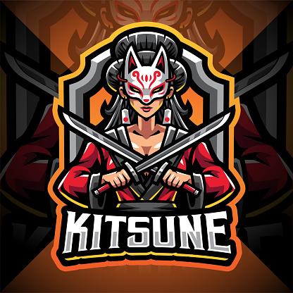 Kitsune girl mascot