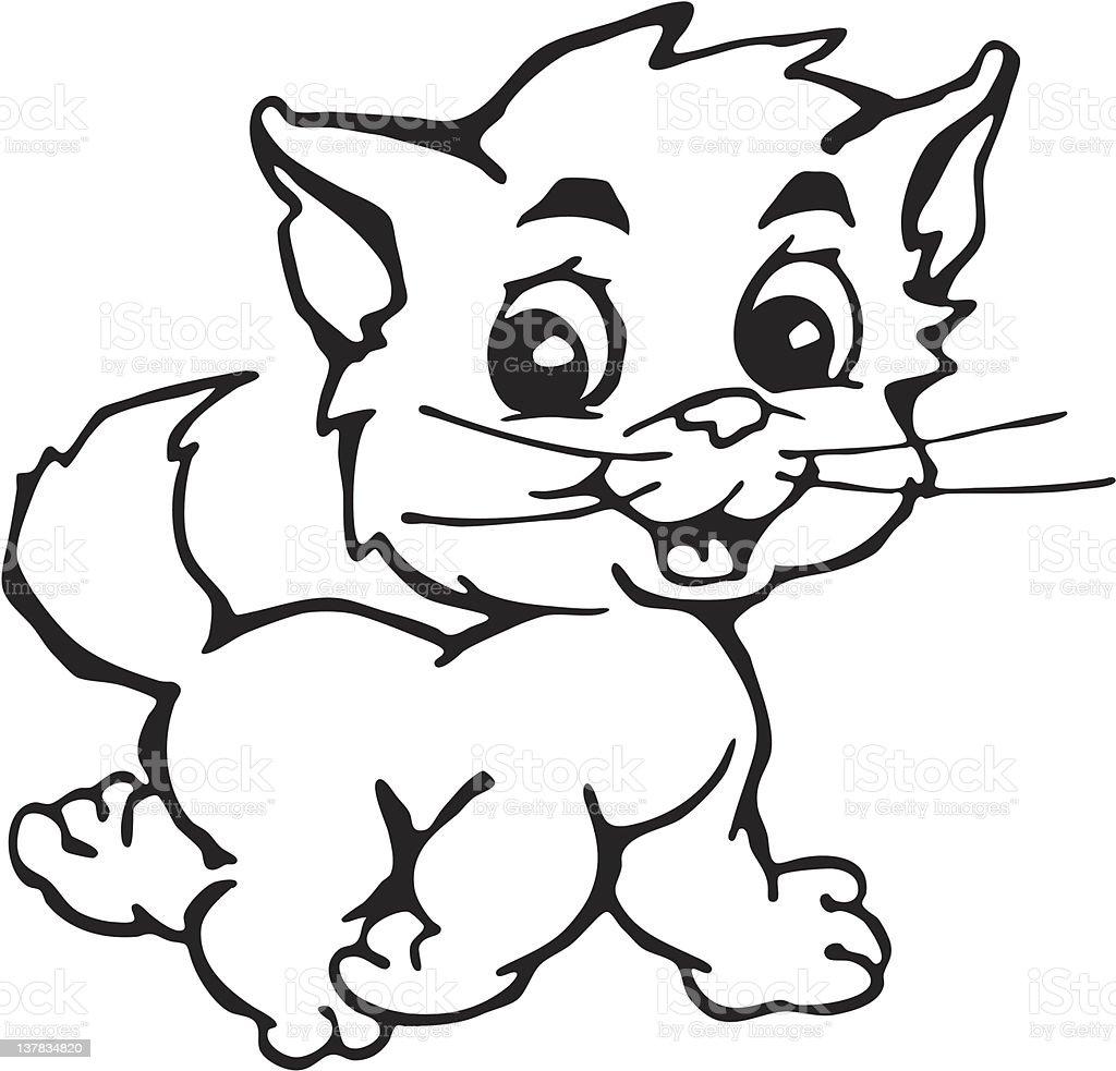 kitten cartoon royalty-free stock vector art