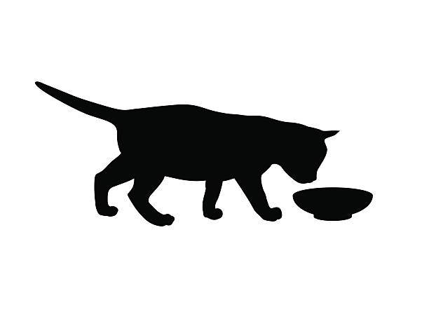 Download Royalty Free Cat Eating From Bowl Clip Art, Vector Images ...