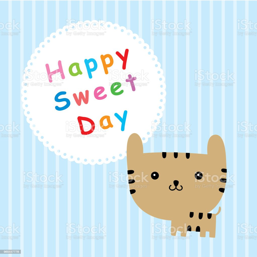 kitten happy sweet day royalty-free kitten happy sweet day stock vector art & more images of animal