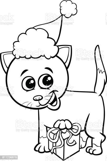 Kitten on christmas time coloring page vector id811236878?b=1&k=6&m=811236878&s=612x612&h= p8k80xnmmueoyveofavoyaandcrl9q ppkv v5urjk=