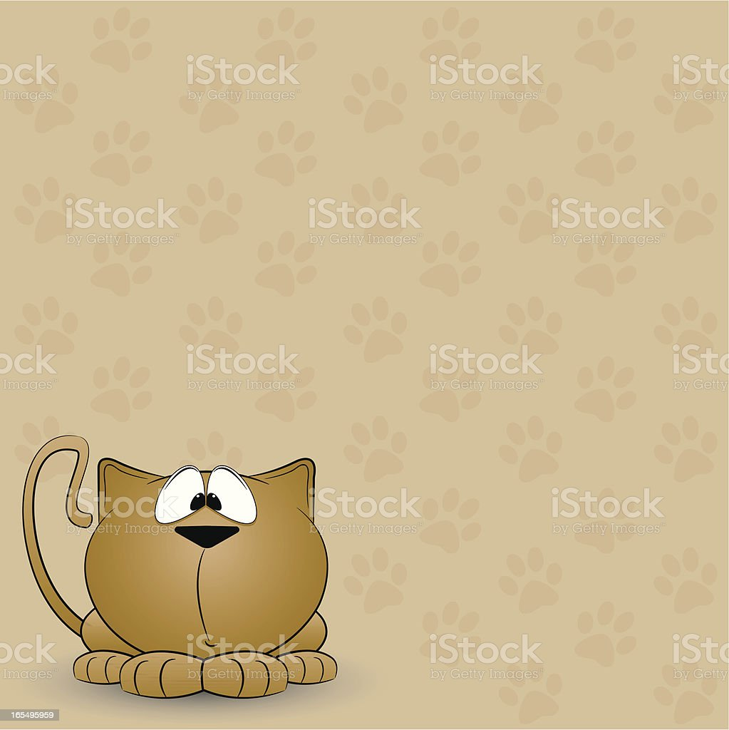 Kitten Pawprint Background royalty-free stock vector art