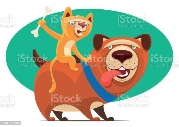 Kitten riding on dog and waving bone vector id1181182039?b=1&k=6&m=1181182039&s=612x612&h=qr2urpuxncutq0tyc6lwfsqgse2cpoeorikmno3e8sk=