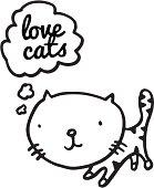 Kitten thinking