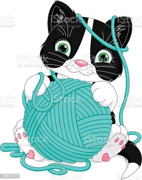 Kitten with yarn ball vector id528281412?b=1&k=6&m=528281412&s=612x612&h=qfgkfcuobf28drzuxrvwel5f9mtacttzff 7hhxz2ok=