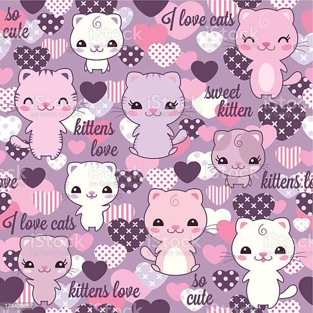 Kittens seamless kawaii pattern vector id174400657?b=1&k=6&m=174400657&s=612x612&h=658pspwm7ndl3scahylnxsl5jylv1ohyu4seo96hjz8=