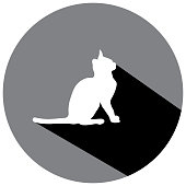 Kitty Cat Sit Shadow Icon