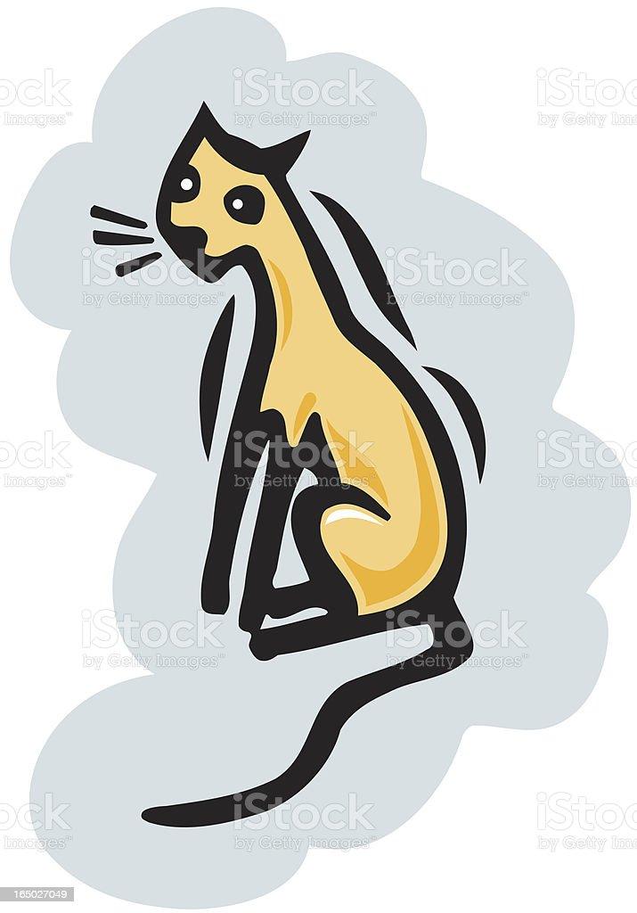Kitty Cat vector art illustration