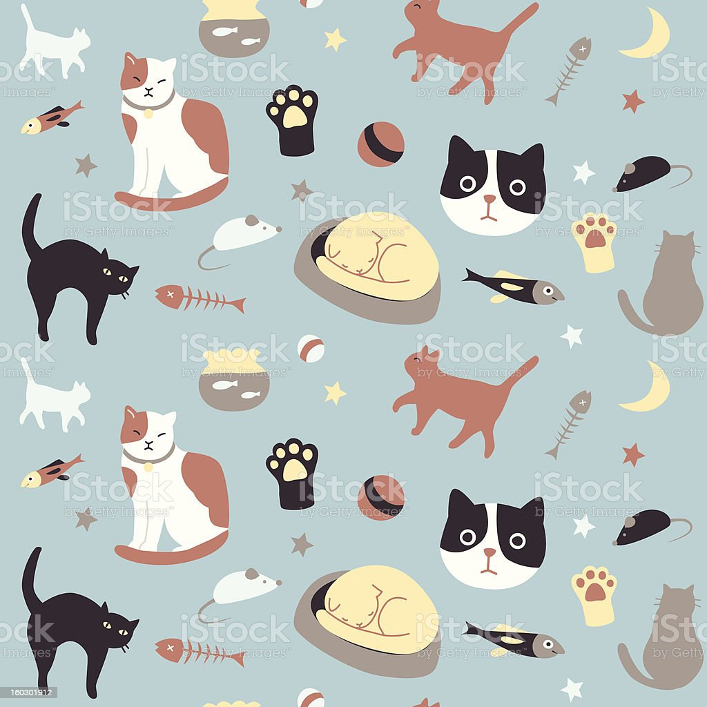 Kitty Collection: Seamless Pattern royalty-free stock vector art