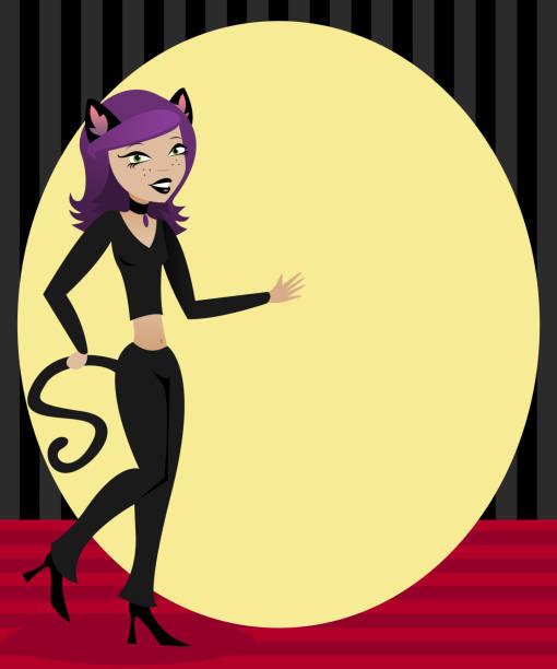 kitty kostüm - catsuit stock-grafiken, -clipart, -cartoons und -symbole