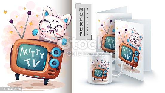 Kitty TV poster and merchandising