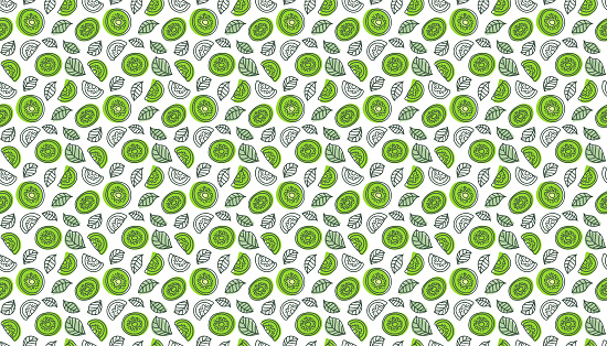 foto de Kiwi Fruit Background Hand Drawn Vector Sketch Doodle Wallpaper ...