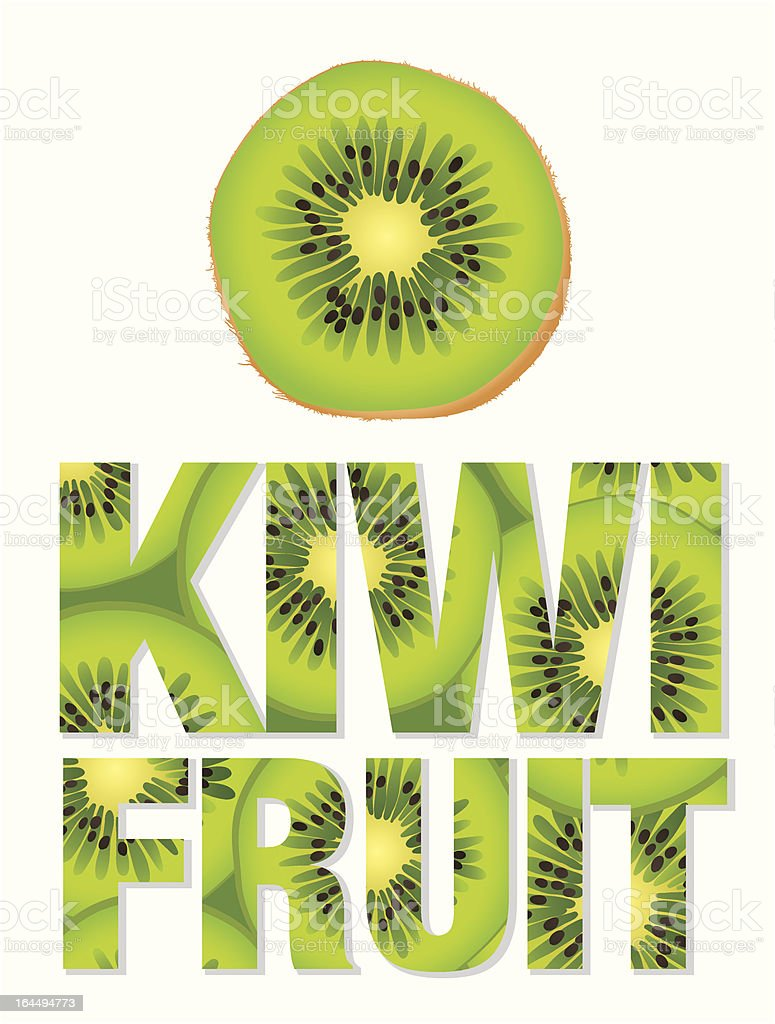 Kiwi Fruit text royalty-free kiwi fruit text stock vector art & more images of asia
