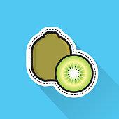 kiwi fruit. eps 10 vector file
