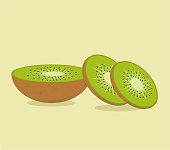 Set of kiwi, orange,mango,watermelon fresh smoothie emblems. Healthy juicy vitamin drink for diet or vegan, homemade refreshing fruit beverage.Template for brand,label,store,packaging,advertising.