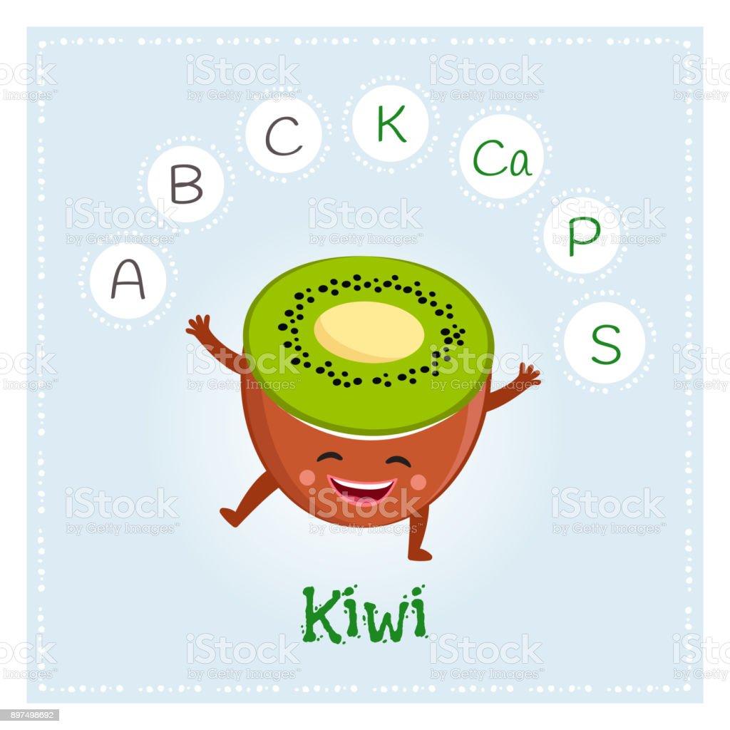 vitaminas y minerales del kiwi