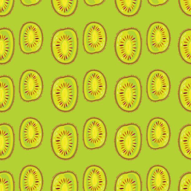 Kiwi Seamless Pattern vector art illustration