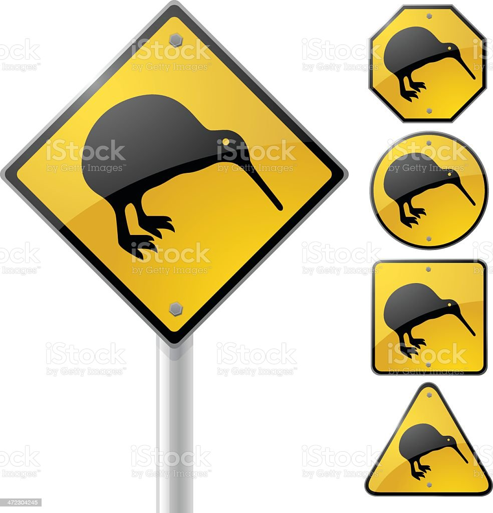 Kiwi Sign royalty-free kiwi sign stock vector art & more images of animal markings