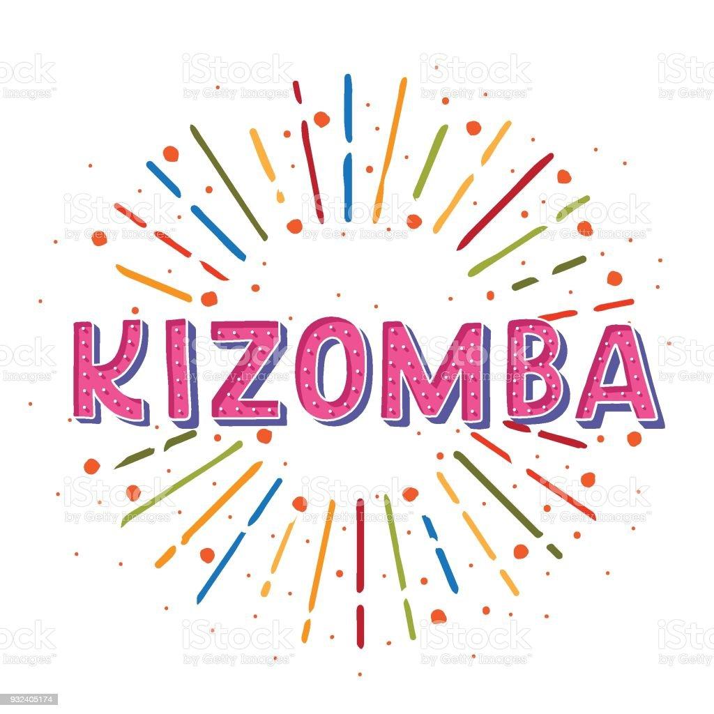 Kizomba - ilustração de arte em vetor