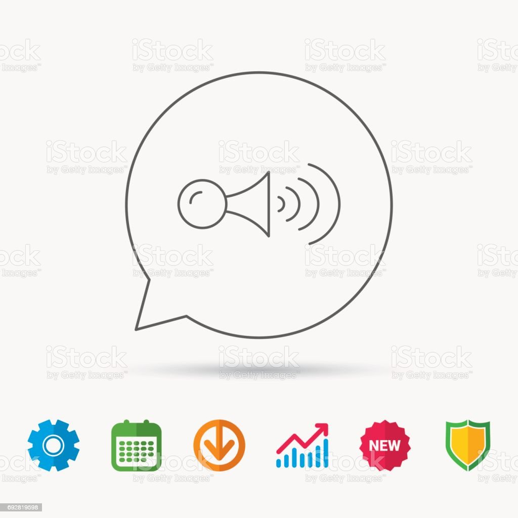Klaxon signal icon. Car horn sign. vector art illustration