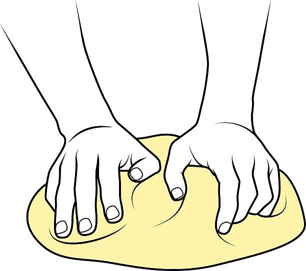 illustrazioni stock, clip art, cartoni animati e icone di tendenza di impastare la pasta - impastare