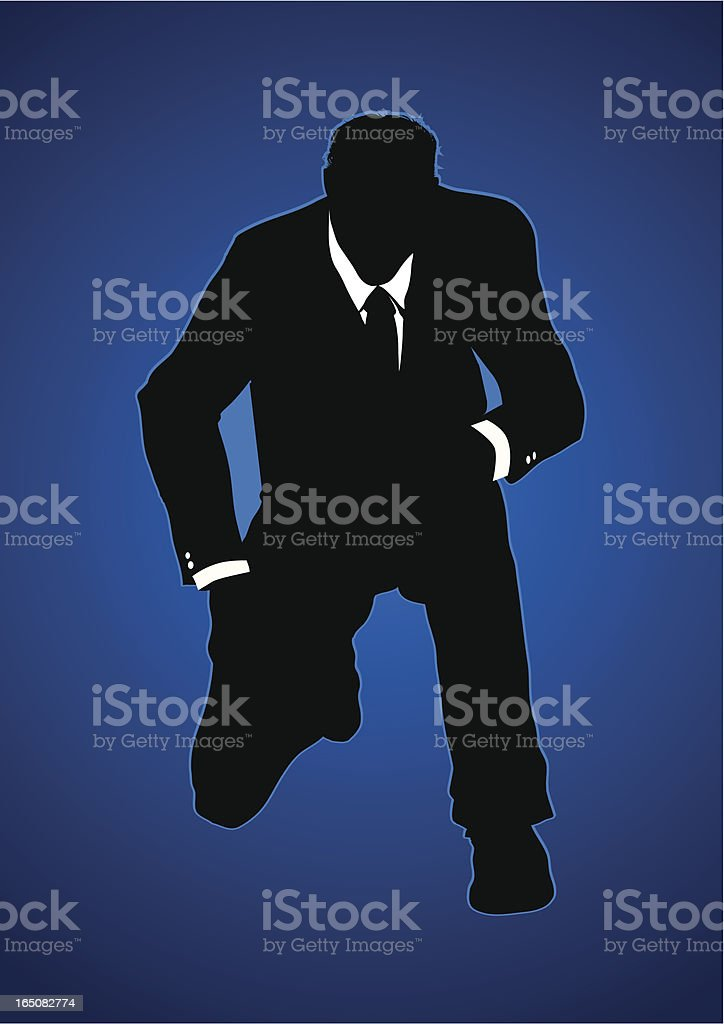 Knealing businessman royalty-free stock vector art