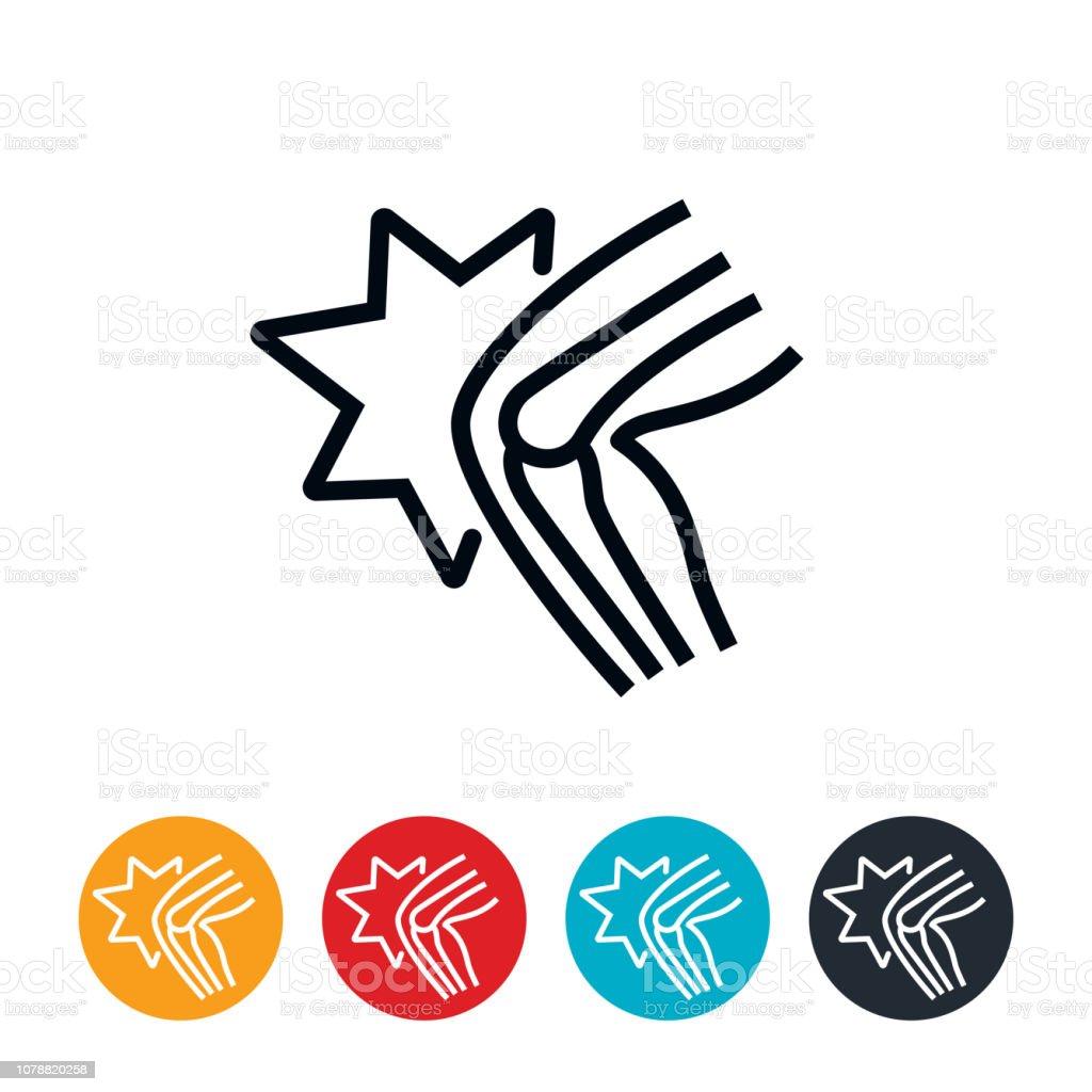 Knee Joint Pain Icon vector art illustration
