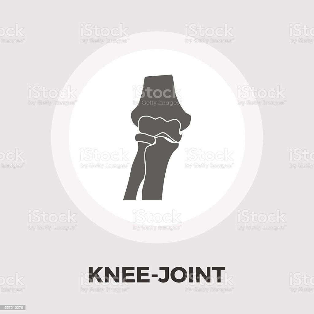 Icono plano de articulación de la rodilla - ilustración de arte vectorial