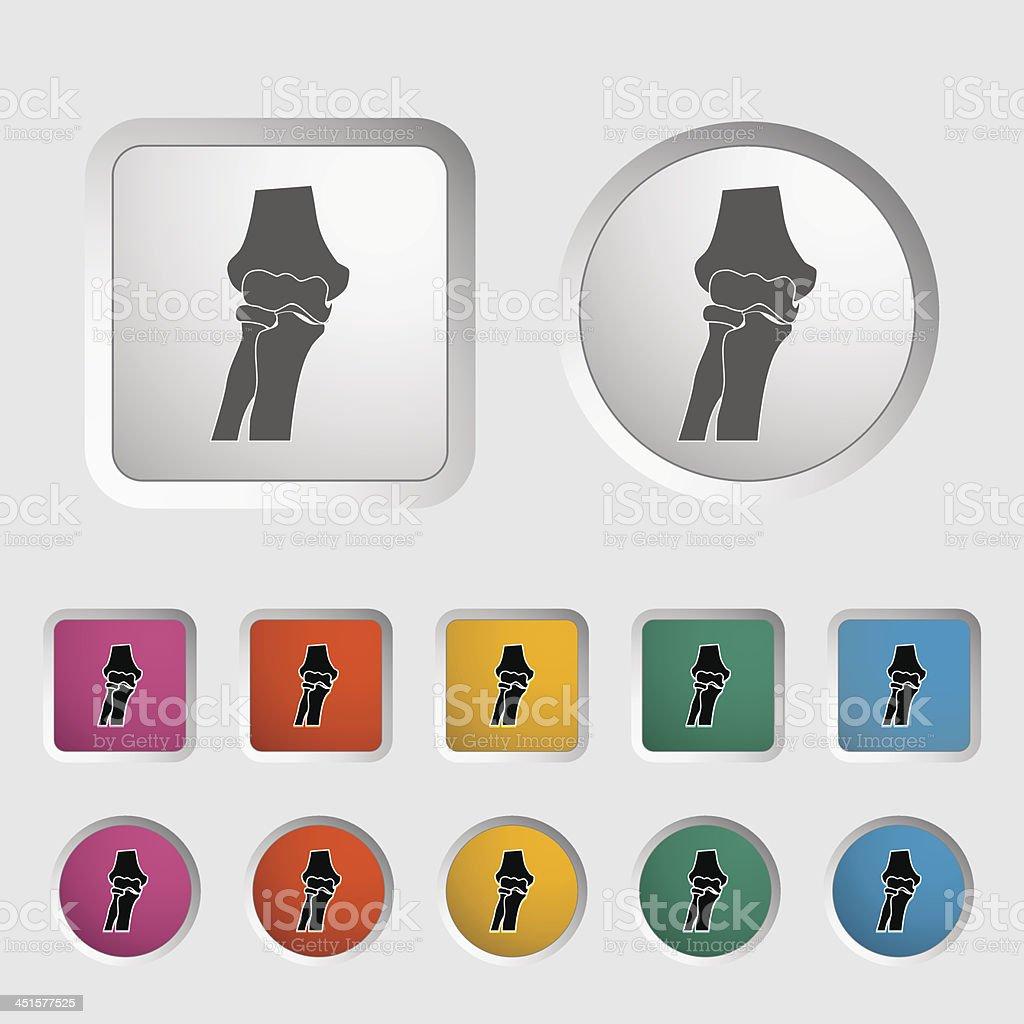 Knie gemeinsamen single-Symbol. – Vektorgrafik
