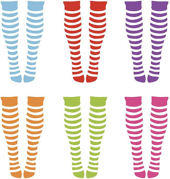 knee-length socks vector art illustration