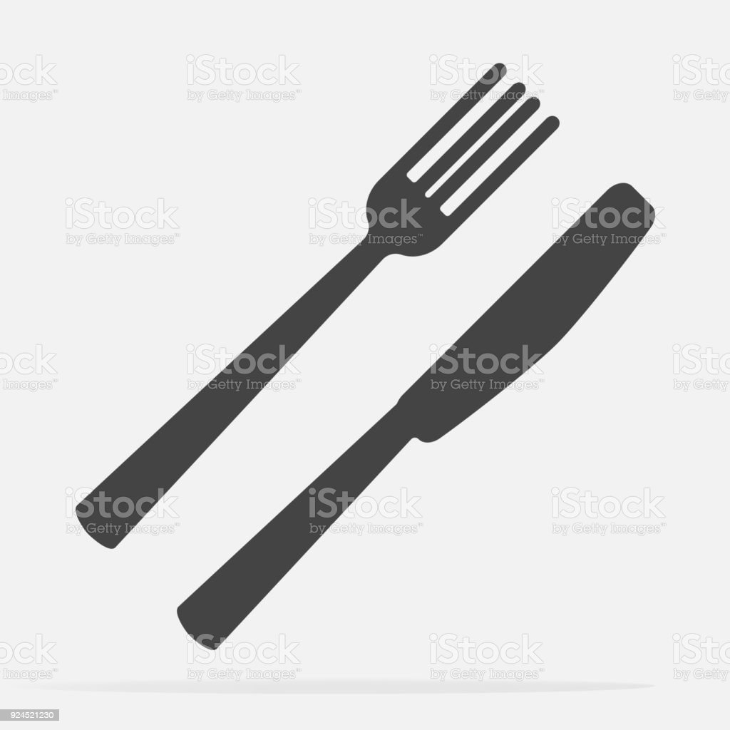 Knife And Fork Cutlery Table Setting Vector Icon Illustration Stock ...