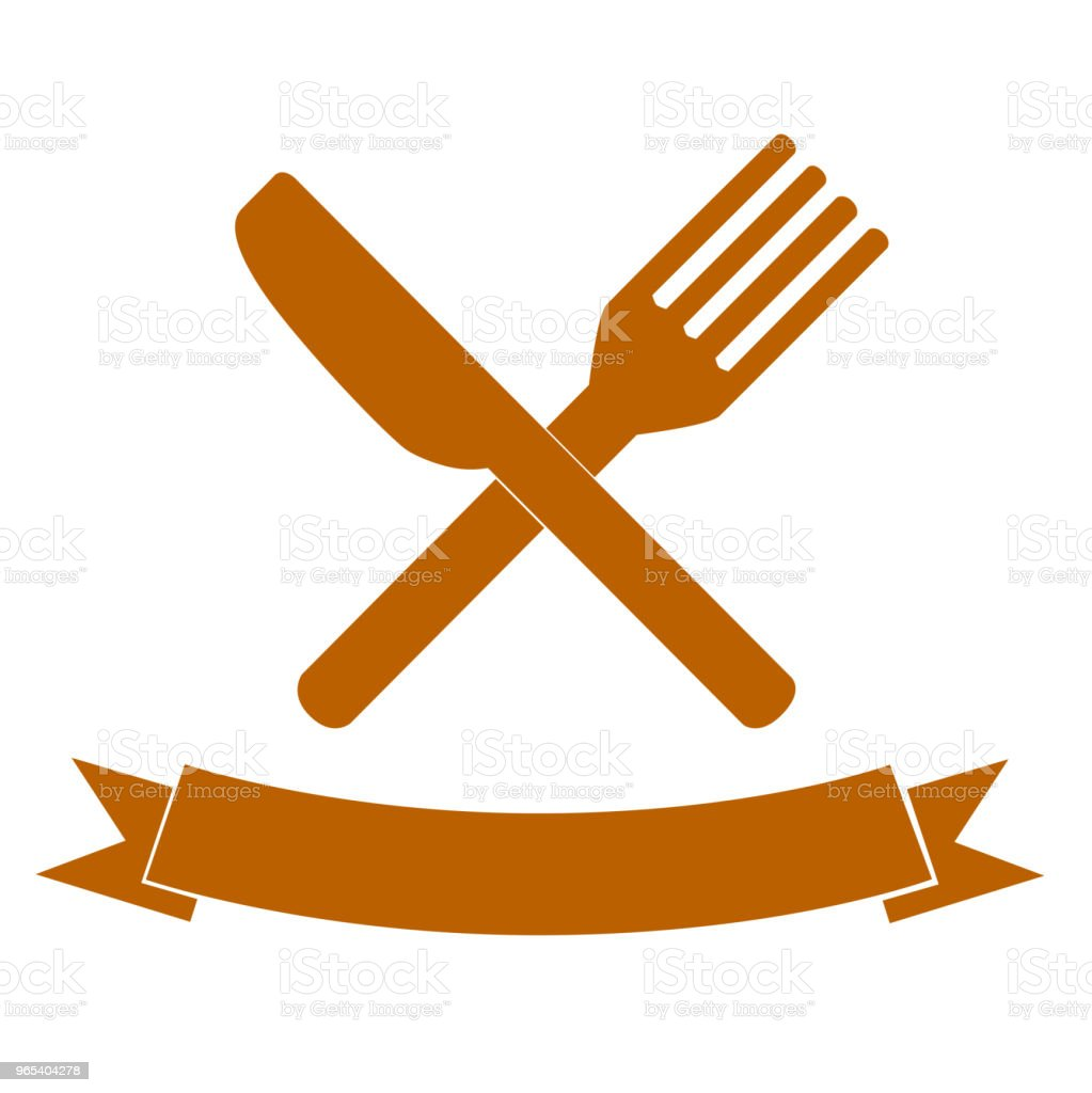 Knife and Fork for your restaurant identity royalty-free knife and fork for your restaurant identity stock vector art & more images of banquet