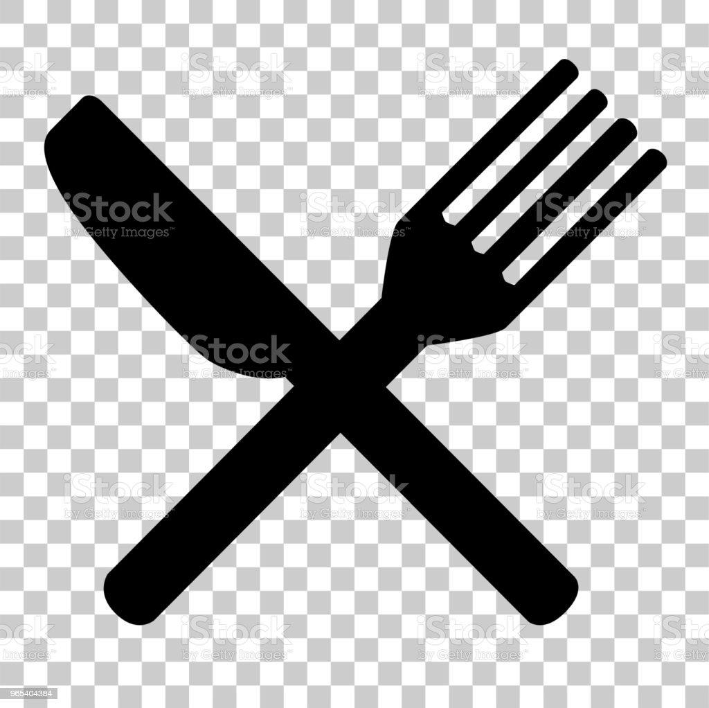 為您的餐館身分的刀叉 - 免版稅一組物體圖庫向量圖形