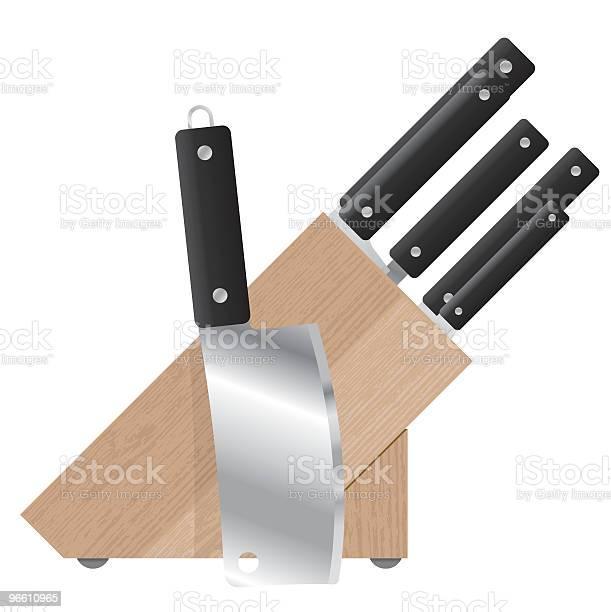 Knife Block-vektorgrafik och fler bilder på Bordskniv