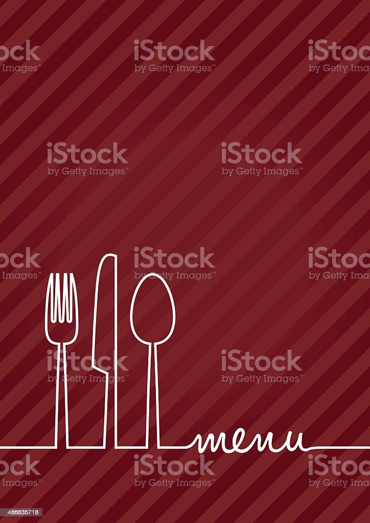 knife fork and spoon set vector art illustration