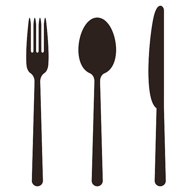 Messer, Gabel und Löffel – Vektorgrafik