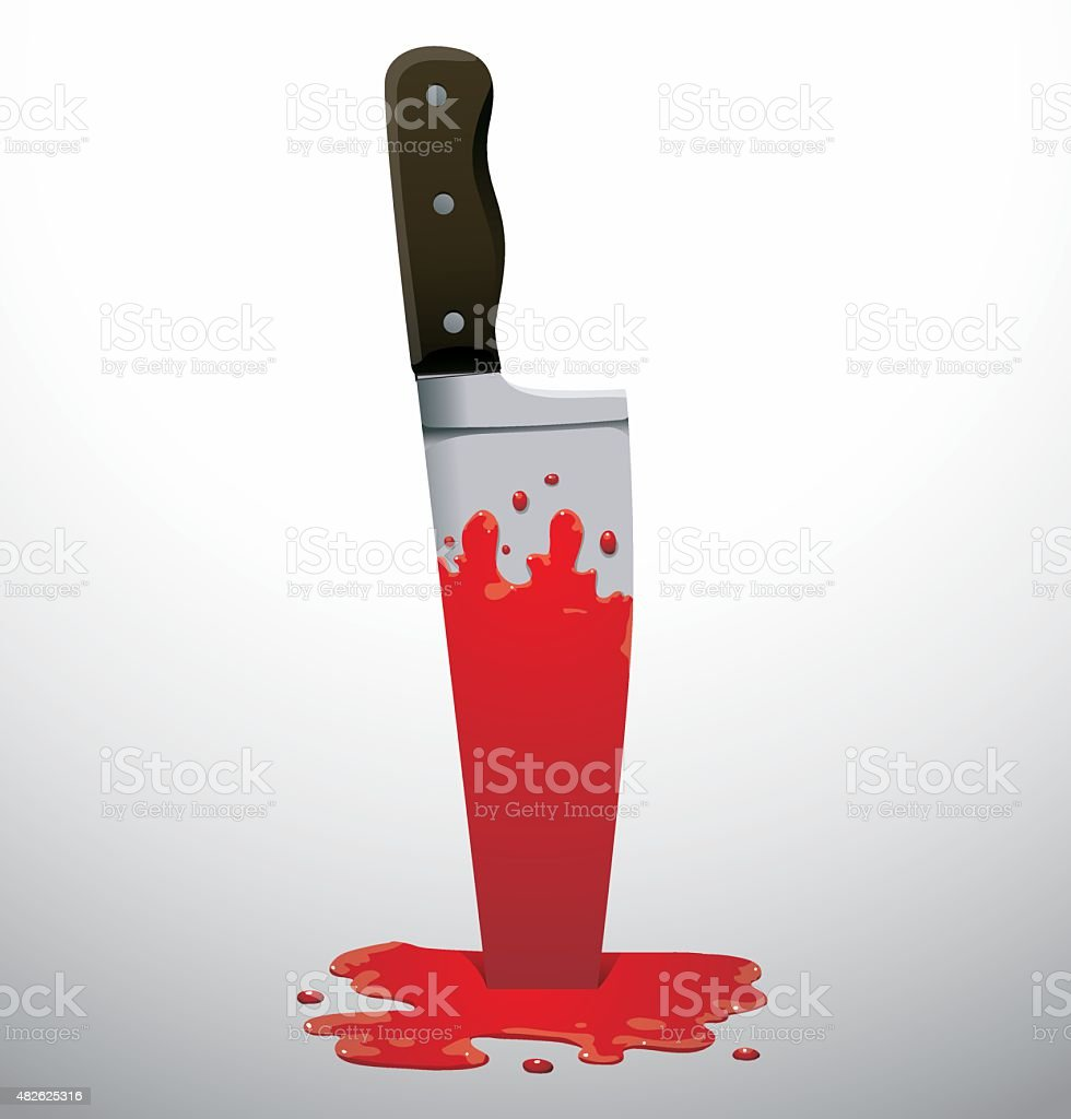 Knife in a blood