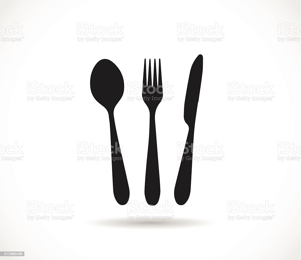 knife spoon and fork icon shape vector stock vector art more