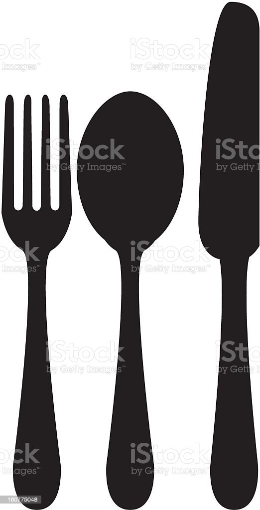 Knife Spoon and Fork Icon royalty-free knife spoon and fork icon stock vector art & more images of black and white