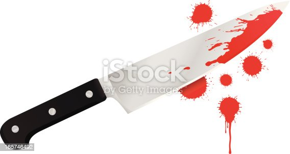 an editable vector bloody knife. used splashes are from my portfolio file number