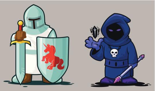 Knight and Necromancer