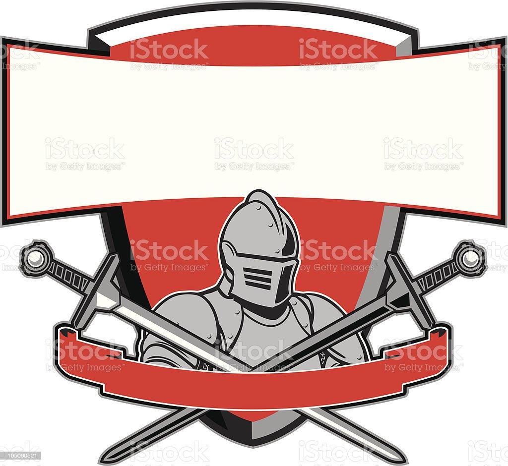 knight and Shield vector art illustration