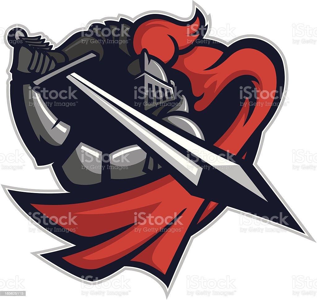 Knight Attack vector art illustration