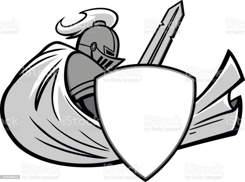 Knight Graphic Illustration vector art illustration