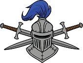 Knight Helmet and Crossed Swords