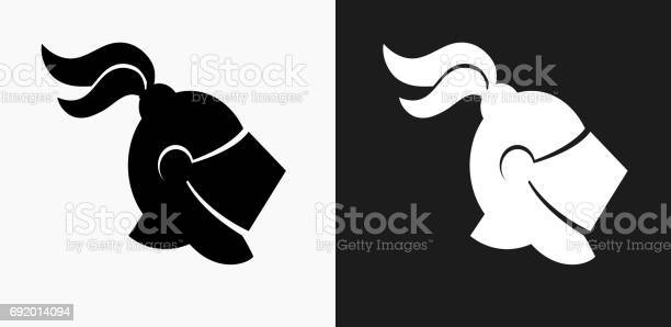 Knight helmet icon on black and white vector backgrounds vector id692014094?b=1&k=6&m=692014094&s=612x612&h= pcistvch40vpdz1egv5gt19txaewgpqjvx17dnsoly=